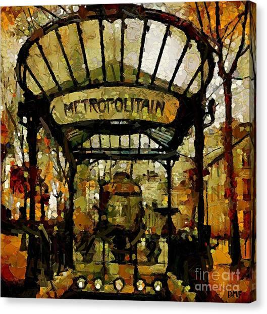 Entrance To The Paris Metro Canvas Print