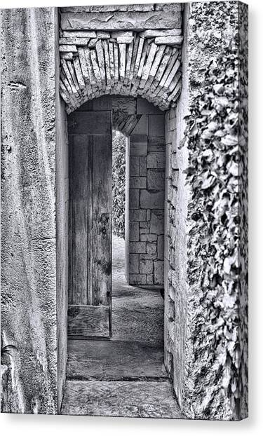 Entrancing Entrance In Monochrome Canvas Print by Delilah Downs