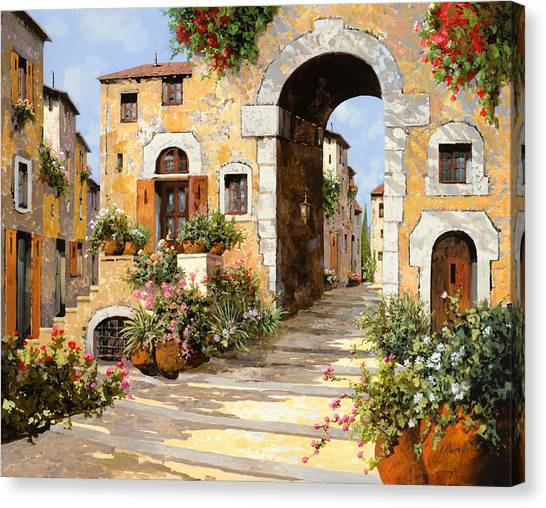 Old Age Canvas Print - Entrata Al Borgo by Guido Borelli