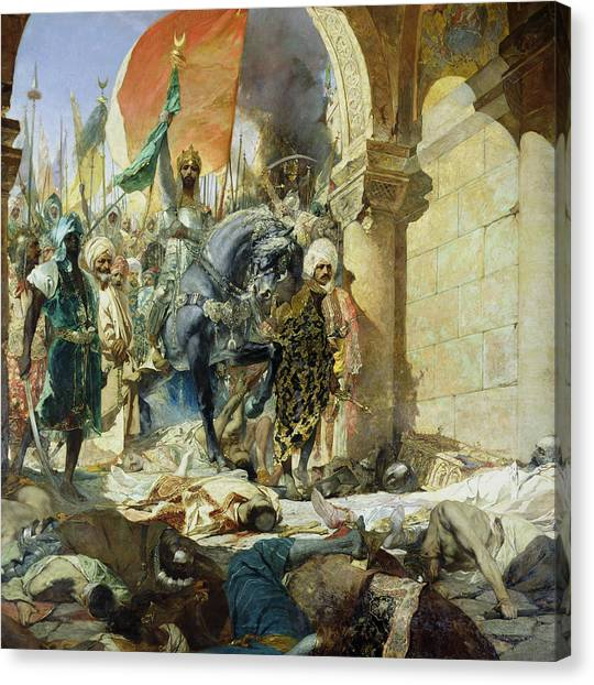 City Of The Dead Canvas Print - Entry Of The Turks Of Mohammed II by Benjamin Constant