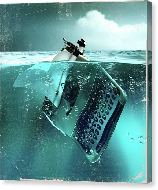 Drown Canvas Print - Environmental Writing by Smetek