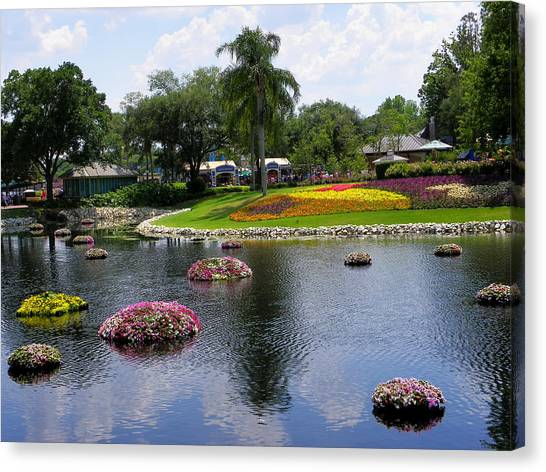 Epcot Center Flower Festival 1 Canvas Print