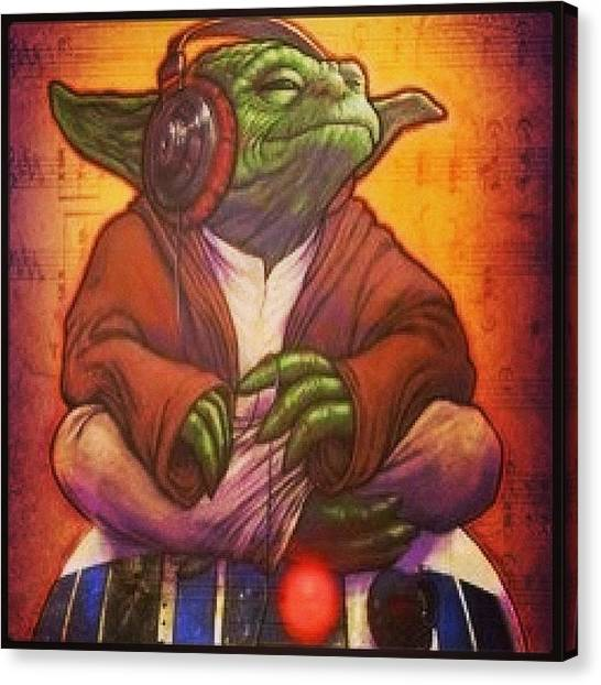 Yoda Canvas Print - Epic This Picture It Is Hmmmm??? :) by Tanya Pillay
