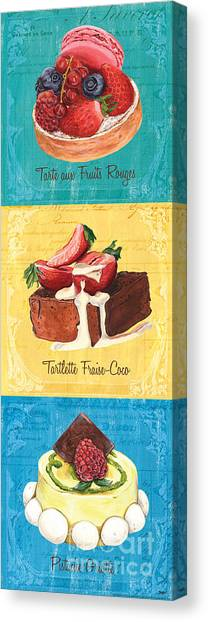 Raspberry Canvas Print - Epicerie Panel 1 by Debbie DeWitt