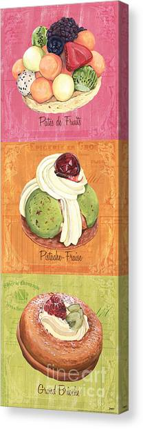 Cakes Canvas Print - Epicerie Panel 2 by Debbie DeWitt