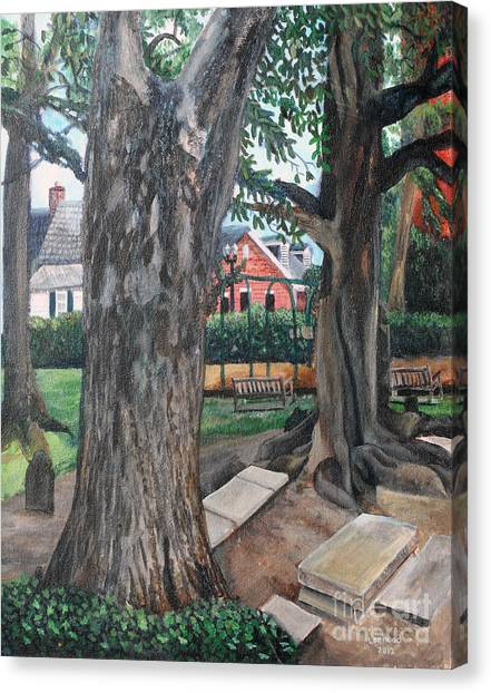 Episcopal Church Yard New Bern Canvas Print