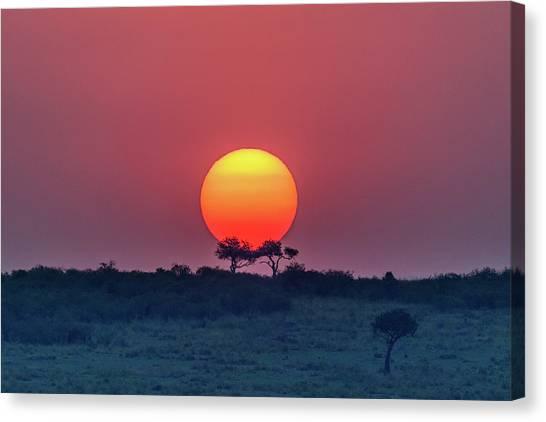 Equatorial Sunset Canvas Print by Jeffrey C. Sink