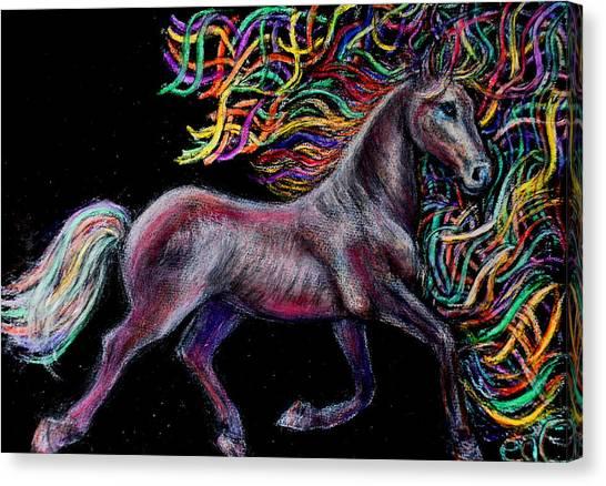Equestrian Canter Canvas Print by Elizabeth Clausen