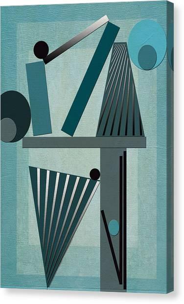 Frank Stella Canvas Print - Equilibrium by Linda Dunn