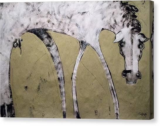 Acrylic On Canvas Print - Equos by Mark M  Mellon