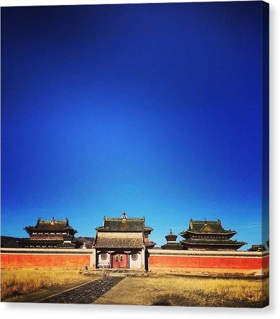 Japanese Canvas Print - #erdenezuu #temples In #kharhorin by Ryoji Japan