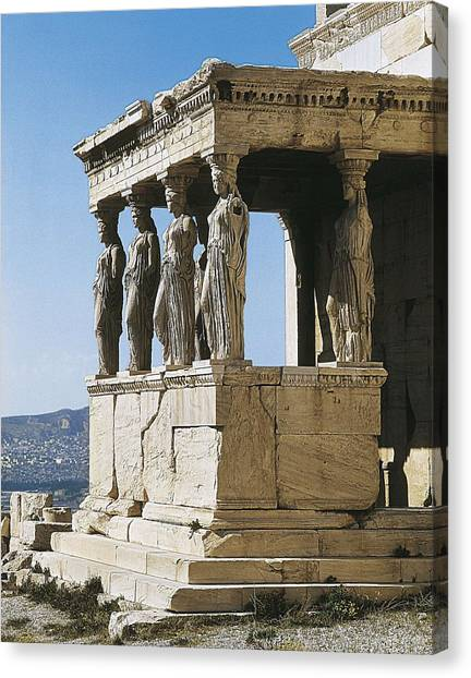 The Acropolis Canvas Print - Erechtheion. 421 -414 Bc. Greece by Everett