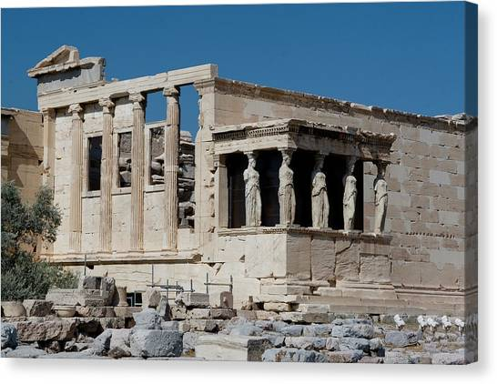 Erechtheion With The Porch Of Maidens Canvas Print