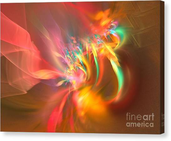 Canvas Print featuring the digital art Ergo Sum by Sipo Liimatainen