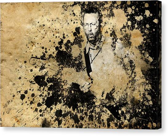 Eric Clapton Canvas Print - Eric Clapton 3 by Bekim Art