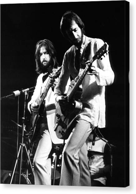 Eric Clapton Canvas Print - Eric Clapton And Pete Townshend  by Chris Walter