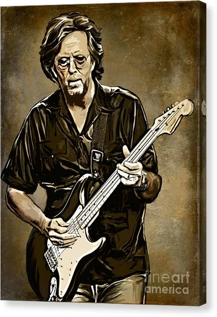 Eric Clapton Canvas Print - Eric Clapton by Andrzej Szczerski