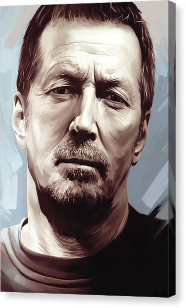 Eric Clapton Canvas Print - Eric Clapton Artwork by Sheraz A