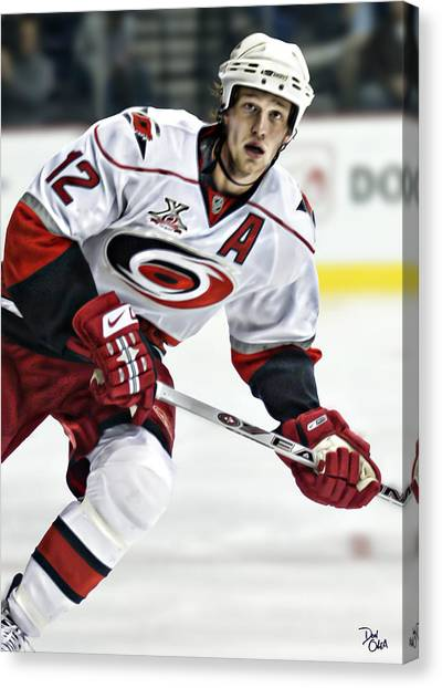 Carolina Hurricanes Canvas Print - Eric Staal by Don Olea