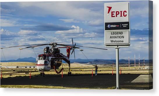 Skycrane Canvas Print - Erickson S-64 Skycrane by Alan Marlowe