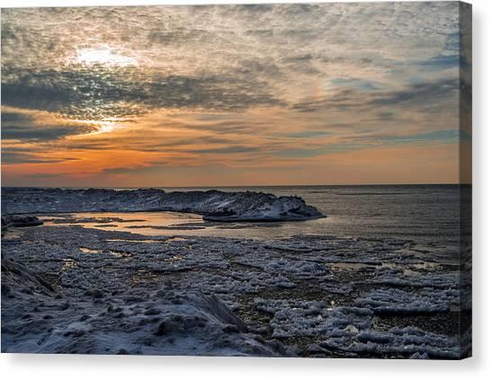 Erie Ice Dunes Canvas Print