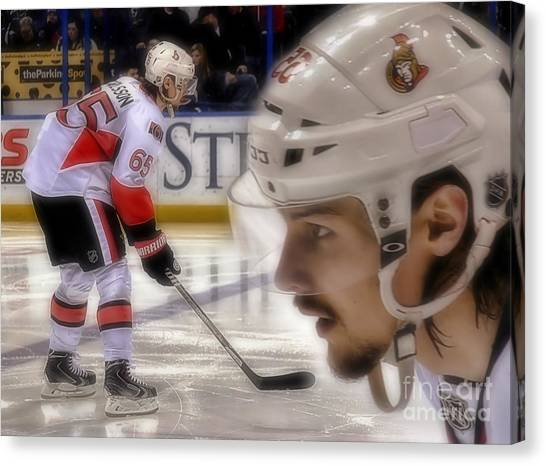 Ottawa Senators Canvas Print - Erik Karlsson by Timothy Guay