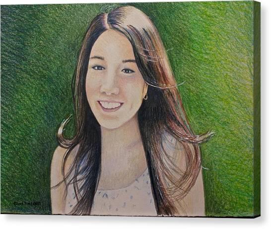 Erika's Portrait Canvas Print