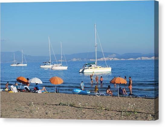 Erikousa Beach One Canvas Print