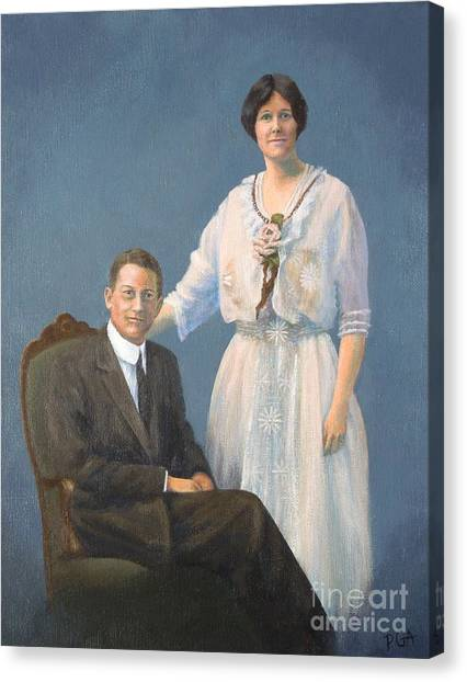 Ernest And Helen Barnes Canvas Print