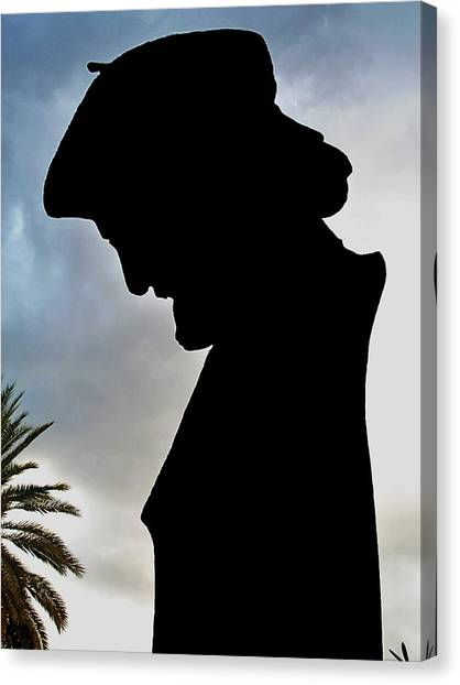 Ernesto Cardenal In The Literary Garden Canvas Print