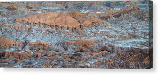 Atacama Desert Canvas Print - Eroded Hills At Sunset In The Atacama by Panoramic Images
