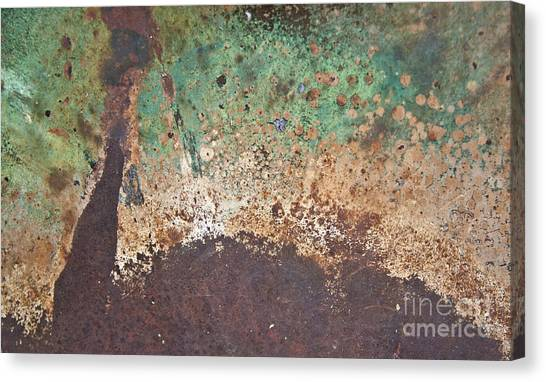 Eruption Volcanic Abstract Canvas Print
