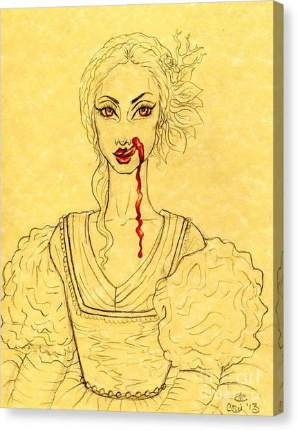 Erzibeth Bathory Canvas Print by Coriander  Shea