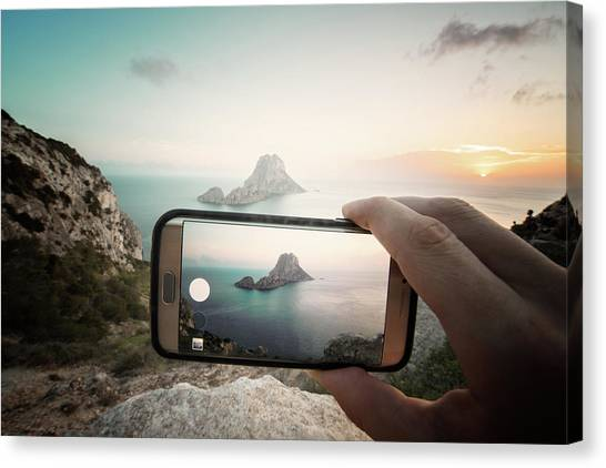Es Vedra On Mobile Canvas Print by Andy Brandl