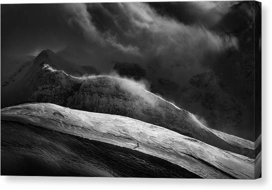 Snowboarding Canvas Print - Escape by