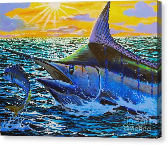 Sportfishing Canvas Print - Escape by Carey Chen