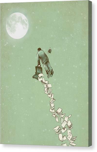 Flight Canvas Print - Escape by Eric Fan