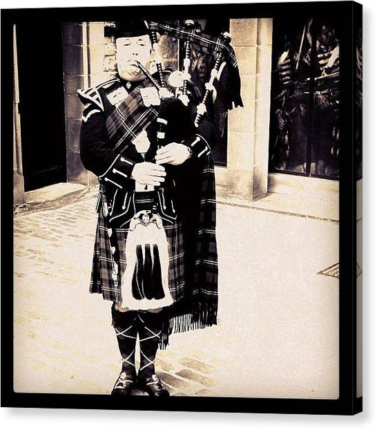 Bagpipes Canvas Print - #escocia #scotland #uk #unitedkingdom by Marco Santos