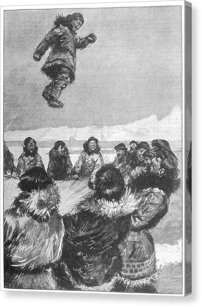 Trampoline Canvas Print - Eskimos Of Northern Asia Use A by Mary Evans Picture Library