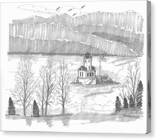 Esopus Lighthouse Canvas Print