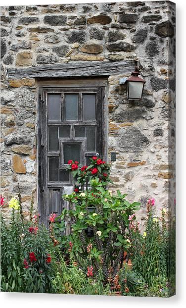 Espada Doorway With Flowers Canvas Print