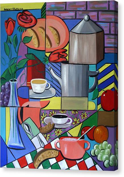Canvas Print featuring the painting Espresso by Anthony Falbo