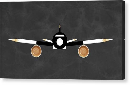 Pencils Canvas Print - Espresso Jet by Udo Dittmann