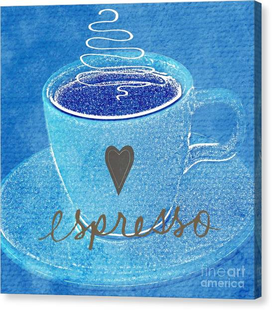 Bistros Canvas Print - Espresso by Linda Woods