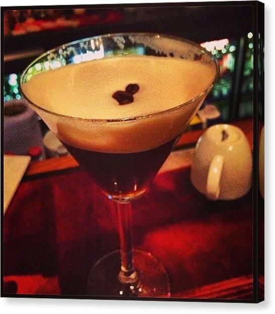 Martini Canvas Print - #espresso #martini #absolutwatkins by Hans Gunsberger