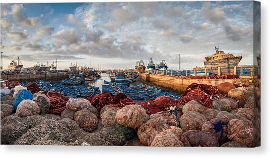 Essaouira Harbour Canvas Print by Michael Avory