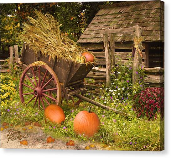 Shingles Canvas Print - Essence Of Autumn  by Doug Kreuger