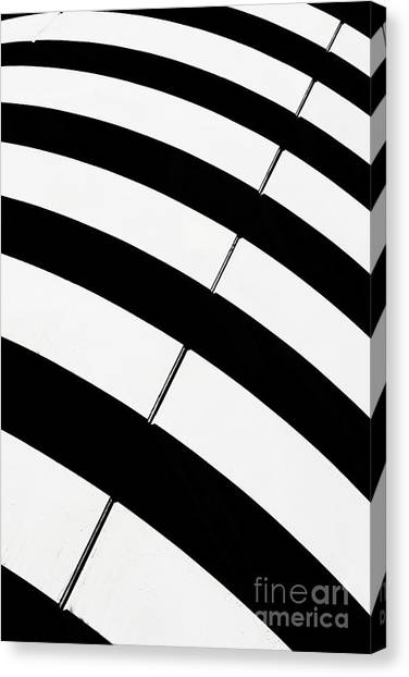 Real Madrid Canvas Print - Black And White Stripes by Rod McLean