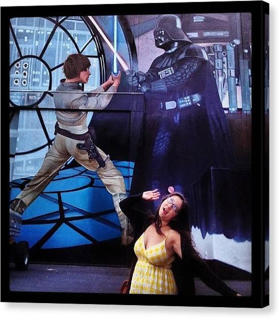 Jedi Canvas Print - #estarwars #guerradelasgalaxias #foxlot by Claudia Garcia Trejo