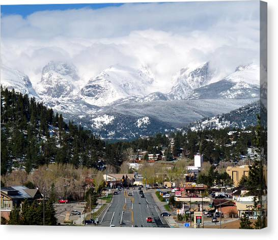 Estes Park In The Spring Canvas Print